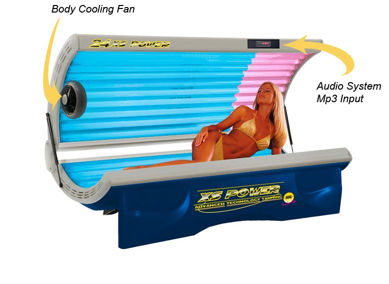 home tanning bed 24 xs power delux facial 110 volt. Black Bedroom Furniture Sets. Home Design Ideas
