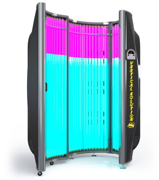 commercial tanning bed - xs power vertical solution 48