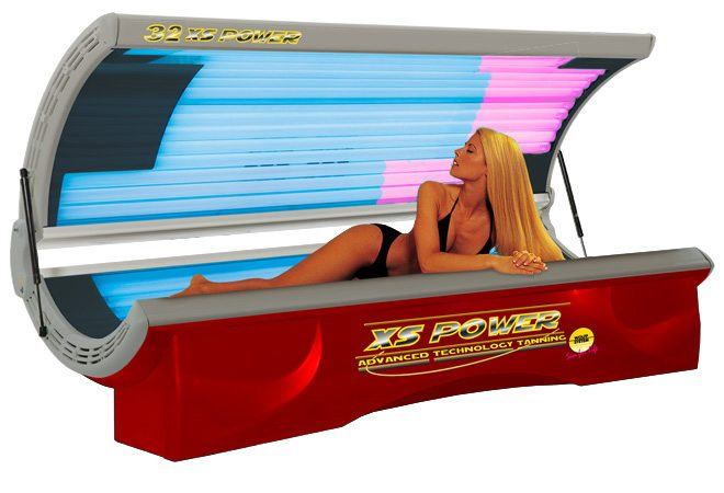 Tanning Bed 32 XS Power 110 Volt Facial